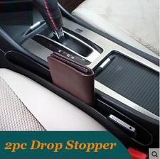2Pc Seat Gap Filler Catch Catcher Center Console Caddy Pocket Blocker Box Bin