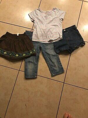5T Leggings Pants Rainbow Size -12M 18,4T,3T 2 Pairs Circo Girls Pink Black
