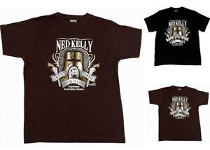 Adult-T-Shirt-Australian-Australia-Day-Souvenir-100-Cotton-Ned-Kelly