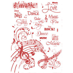 TAMPONS TRANSPARENTS MUSIQUE ET DANSE JOY CRAFTS  14x20cm