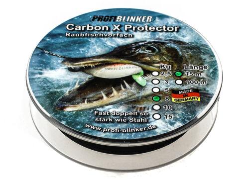 Profi Blinker Carbon X Protector Raubfisch Vorfach Hardmono 1,86€//m