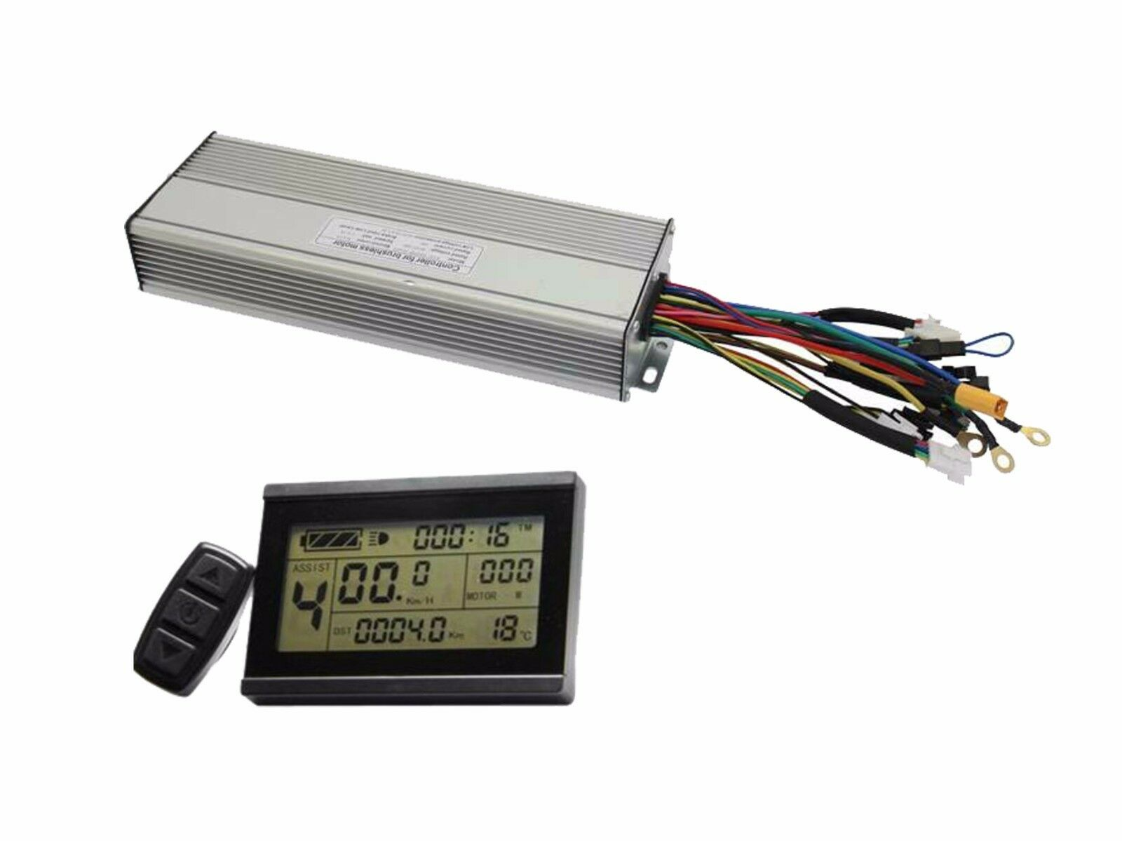 EU DUTY FREE 36V 48V LCD3 Panel + Ebike 1200W Controller 35A
