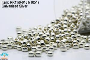 Miyuki Round Rocailles 11//0 Duracoat Galvanized Silver Plated Sd Bd RR-1051//181