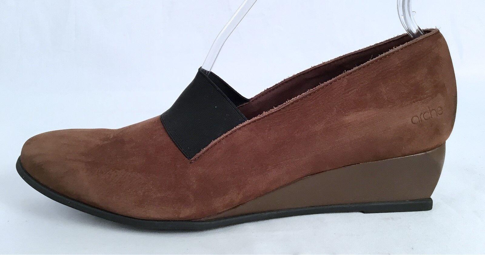 New!! Arche 'Emyone'Wedge Pump - 10 Chocolate-Size 10 - US/ 41 EU   375-(J4) a56cee