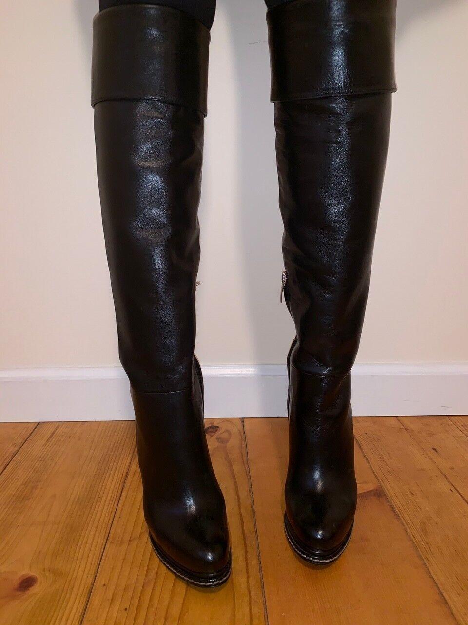 moda Donna  Barbara Bui nero Knee High High High Heeled stivali Dimensione 7.5  vendite online