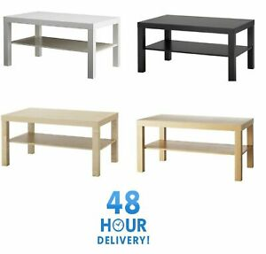 Coffee-Table-Living-Room-Furniture-Modern-Design-With-Shelf-Ikea-White-Oak-Black