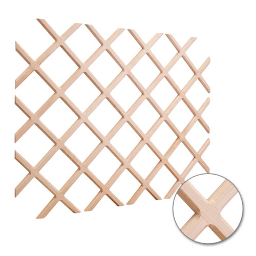 "2 PACK 25"" x 45"" Wine Lattice Rack with Beveled Mording #WR452MP Maple Wood"