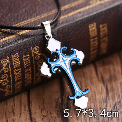 Unisex's Men Fashion Stainless Steel Cross Pendant Necklace Chain Jewelry Gift