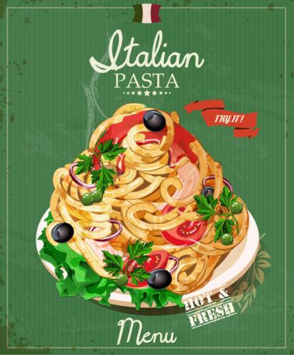 RETRO PASTA METAL SIGN VINTAGE CAFE BAR TIN PLAQUE FAST FOOD DINER ART ART