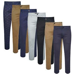 Da-Uomo-Chino-Pantaloni-Classic-Fit-Jeans-Stretch-Active-Pantaloni-Pantaloni-Lavoro-Ufficio
