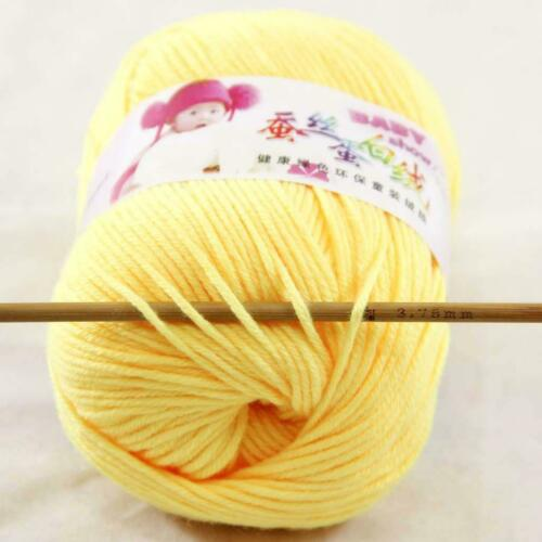 AIPYARN 1Skeinsx50g Soft Cashmere Silk Velvet Baby Hand Knitting Crochet Yarn 21