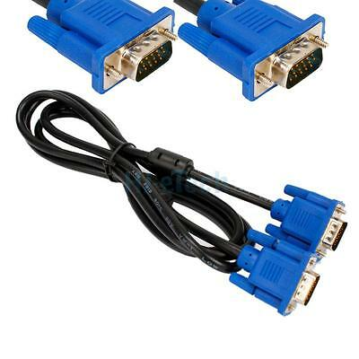 New 6FT SVGA 15 Pin Male to Male Super VGA Monitor Extension Cord Cable Blue
