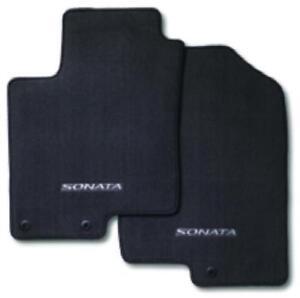 2011 2014 Hyundai Sonata 4pc Set Black Carpeted Floor Mats