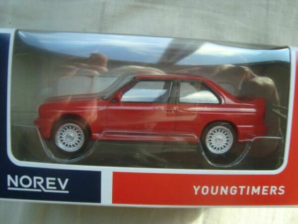 Bmw m3 e30 1986-91 Youngtimer rojo red 1:43 norev