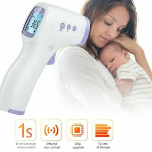 LCD Infrared Digital Thermometer Non-Contact Forehead Baby Adult Body Termometer