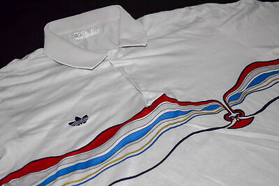 Adidas Polo T Shirt Tennis Vintage The Face Ivan Lendl 80er 80s West Germany L | eBay