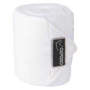 CATAGO-elastische-Fleecebandagen-4-Stueck-weiss-Bandage-Fleece-Pferdebandage