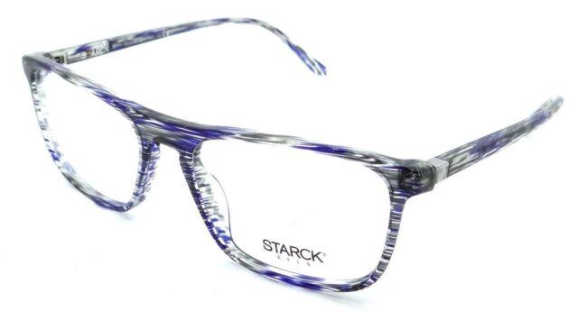 4cd471eb60 Starck Eyes Mikli Rx Eyeglasses Frames SH3026 0019 53-17-145 Striped Blue  Grey