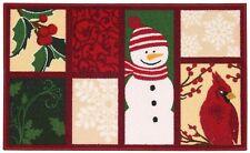 """Nourison Essential Elements Snowman/Cardinal Multicolor Accent Rug 17""""x28"""""""