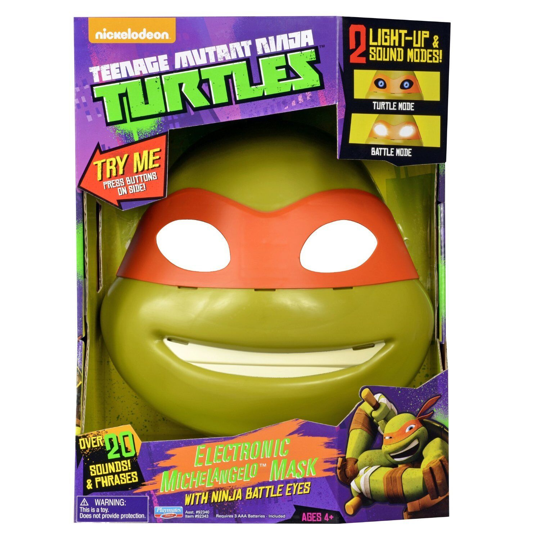Teenage Mutant Ninja Turtles MICHELANGELO ELECTRONIC MASK NINJA BATTLE EYES TALK