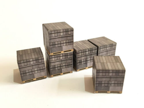 12 BREEZE BLOCK LOADS FOR OO GAUGE 1:76 SCALE MODEL RAILWAY /& DIECAST AX029-OO