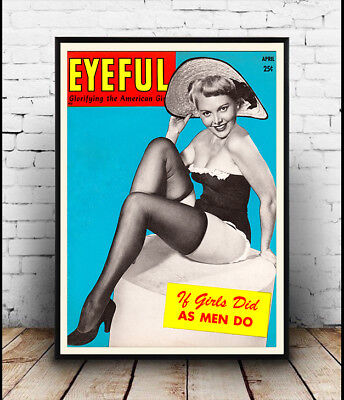 Old Magazine Cover Poster reproduction Eyeful