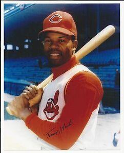 Tommy Harper Cleveland Indians Signed Auto 8x10 Photo Autograph