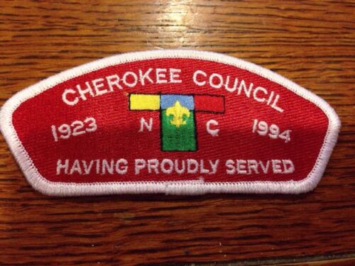 MINT CSP Cherokee Area Council NC S6 19231994