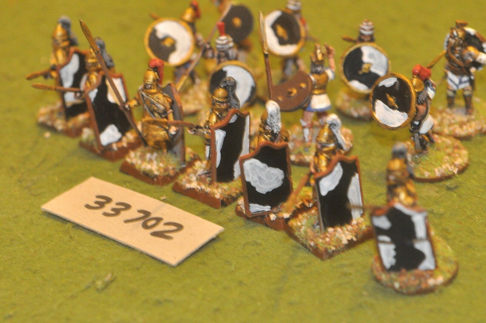 25mm biblical   mycean - warriors 15 figures - inf (33702)