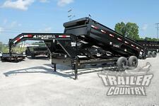 New 7 X 16 14k Gvwr Scissor Hoist Gooseneck Hydraulic Dump Equipment Trailer
