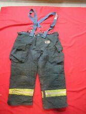 Morning Pride Fire Fighter Turnout Pants 46 X 28 Black Bunker Gear Suspenders