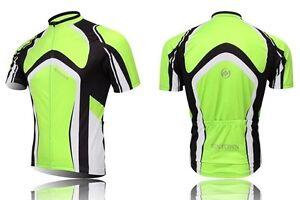 XINTOWN-Men-039-s-Team-Green-Cycling-Jersey-Bike-Bicycle-Shirts-Sports-Shirts-Tops