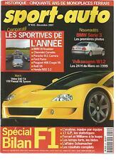 SPORT AUTO 1997 N° 431 VOLKSWAGEN W12 AUDI S8 HONDA NSX BMW SERIE 3 PEUGEOT 406