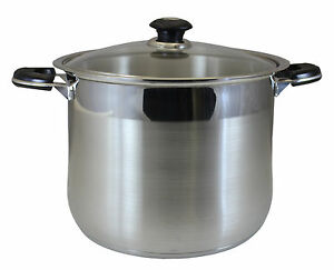 Concord 20 Qt Stainless Steel Stock Pot Heavy Stockpot Ebay