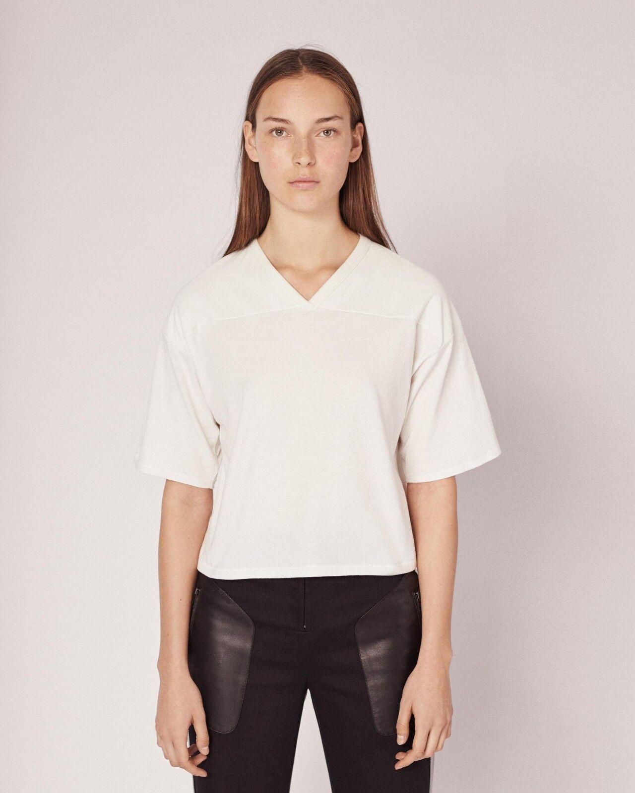 RAG & BONE   JEAN Cropped Training Tee Shirt Top - Off Weiß ( S )