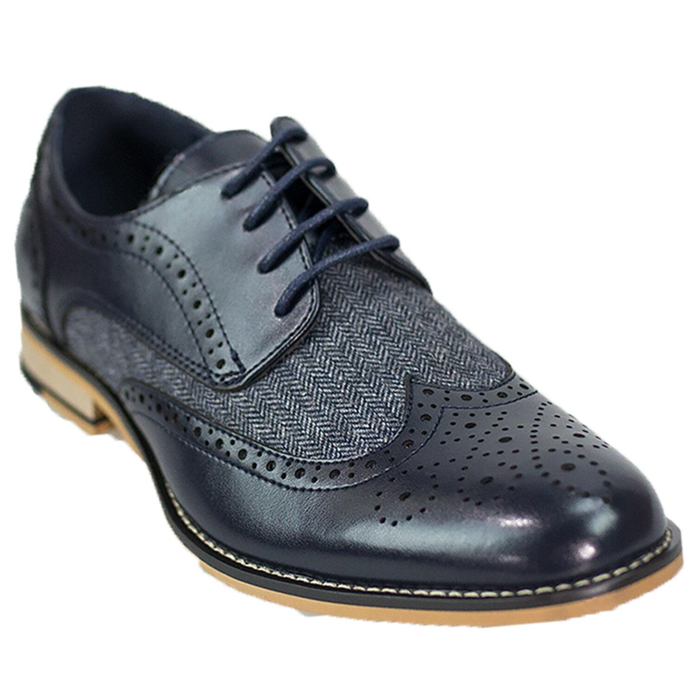 Homme Cuir Véritable Italien Richelieu à Chaussures Chaussures Chaussures Oxford Tweed Formel Mariage Chaussures NOUVEAU bdd2a3