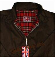 Retro Harrington Jacket Mod Skinhead Indie Ska Brown Xl