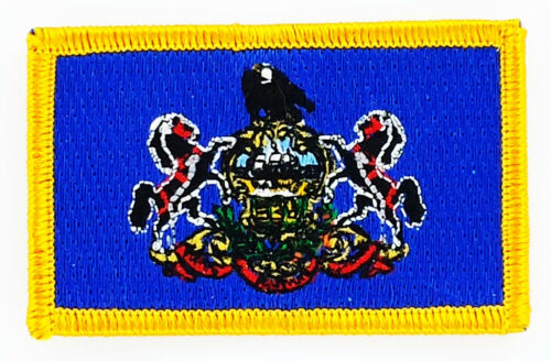 Ecusson Brodé PATCH drapeau Pennsylvanie Pennsylvania USA FLAG EMBROIDERED