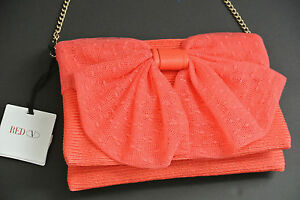 382f1a26b8f Image is loading RED-VALENTINO-Straw-Point-Desprit-Bow-Shoulder-Bag-