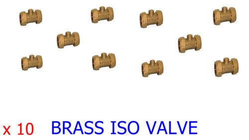 X10 15mm Brass Isolation Shut Off Valve Screwdriver Operated Ballofix *BULK BUY*