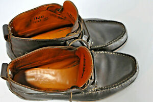 Details about Timberland Mens brown leather boat chukka boots size 8.5 W made in USA Vibram