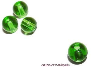 Glasperle-rund-6mm-30-Stueck-gruen