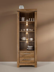 brand new 1df63 e93bc Details about Tall Oak Effect Bookcase Shelf Unit Cabinet Drawers LED  Lighting Modern Gent