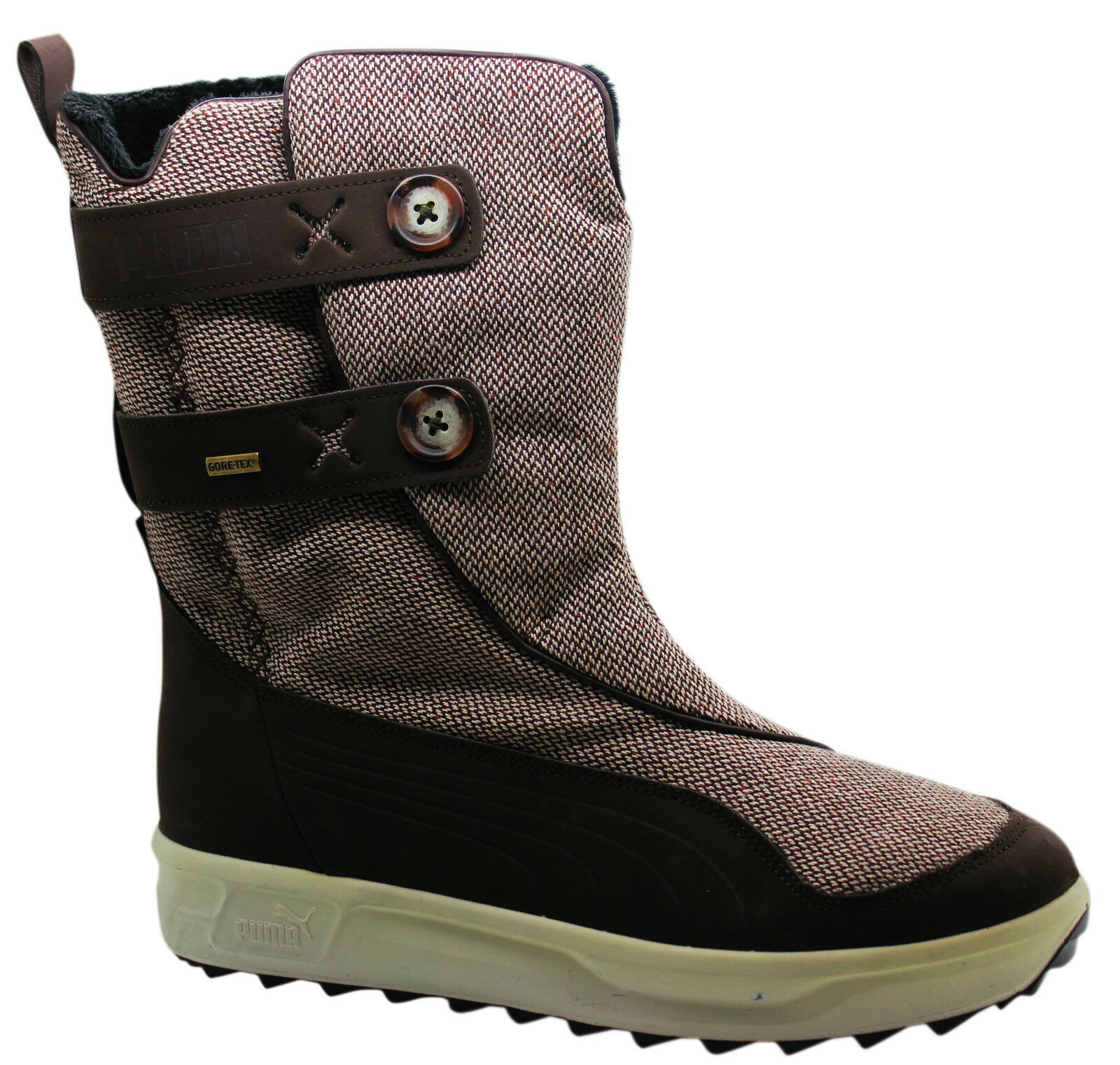 Puma Maddalena Womens Boots Gore-Tex Brown Leather 301747 02 D106