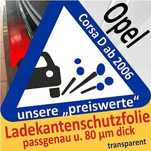 Opel CORSA D 5 Tuerer Entry Sills Paint Protection Film Foil 2057