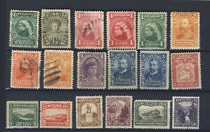 18x-Newfoundland-Mint-amp-Used-stamps-Royal-Family-Map-6-Guide-Value-125-00
