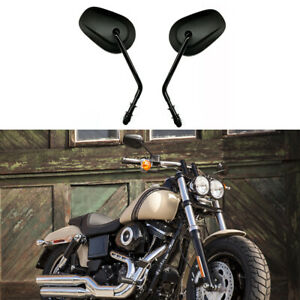 Motorcycle Long Stem Mirrors Black For Harley Davidson Fatboy Flhtc Classic Hg Ebay