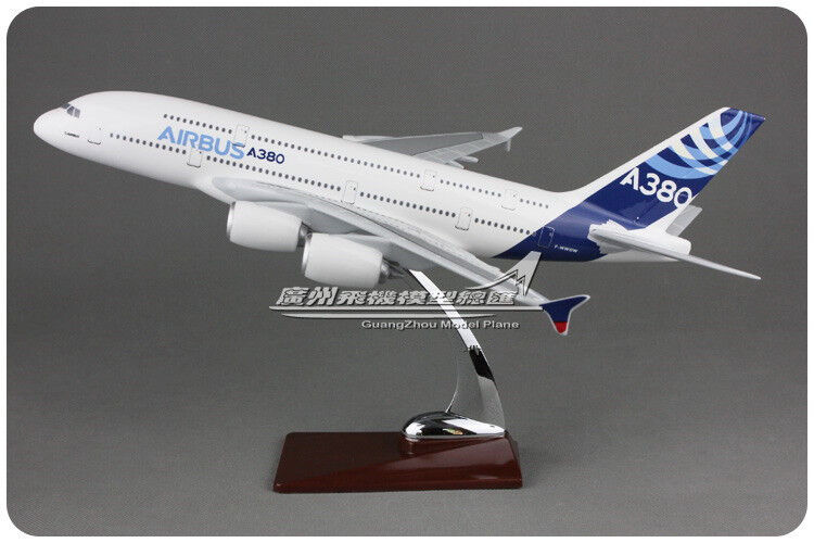 36CM 1 202 AIRBUS A380 Passenger Airplane Plane Resin Aircraft Model Collection