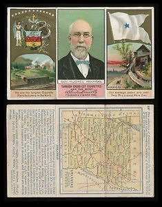 1880s N133 State & Territorial Governors & Coats of Arms Arkansas **AA-7191**