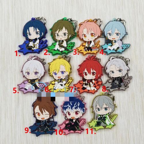 T1567 Anime idolish7 rubber Keychain Key Ring straps Rare cosplay